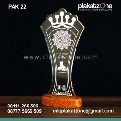 plakat akrilik trophy