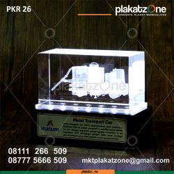 Plakat Kristal 3D Tansport Car PT Inalum